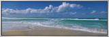 Waves Crashing on the Beach, Sunset Beach, Oahu, Hawaii, USA Framed Canvas Print by  Panoramic Images