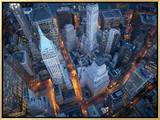 Aerial View of Wall Street Framed Canvas Print by Cameron Davidson