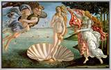 The Birth of Venus, c.1485 Framed Canvas Print by Sandro Botticelli
