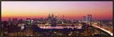 Arial View of the City at Twilight, Philadelphia, Pennsylvania, USA Framed Canvas Print by  Panoramic Images