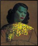 中国の婦人 額入りキャンバスプリント : ウラジミール・トレチコフ