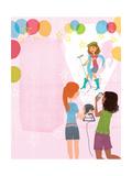 Slumber Party Secrets - Jack & Jill Giclee Print by Elisa Chavarri