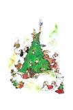 Merry Christmas from All of Us - Jack & Jill Giclee Print by Edith Osborn Corbett