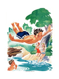 High Dive - Child Life Giclee Print by Keith+H215 Ward