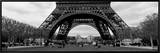 Black and White, Eiffel Tower, Paris, France Framed Canvas Print by  Panoramic Images