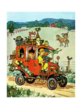 Old Jalopy - Jack & Jill Giclee Print by Philip L. Martin