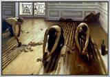 Caillebotte: Planers, 1875 Framed Canvas Print by Gustave Caillebotte