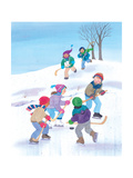 Hockey Time - Humpty Dumpty Giclee Print by Kathryn Mitter