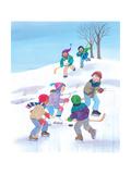 Hockey Time - Humpty Dumpty Giclee Print by Kathryn Mitter