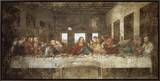 The Last Supper Framed Canvas Print by  Leonardo da Vinci