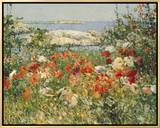 Ocean View Framed Canvas Print by Childe Hassam