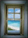 Celarain Lighthouse, Cozumel, Mexico Framed Canvas Print
