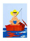 Go Fish - Jack & Jill Giclée-Druck von Beth Henninger Krush