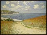 Path in the Wheat at Pourville, 1882 Framed Canvas Print by Claude Monet