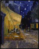 Cafe Terrace at Night Framed Canvas Print by Vincent van Gogh