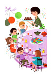 Let's Have an Easter Party - Jack & Jill Giclee Print by Audrey Walters