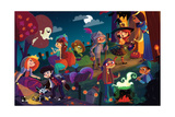 On Halloween Night - Jack & Jill Giclee Print by Tatevik Avakyan