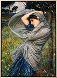 Boreas Framed Canvas Print by John William Waterhouse