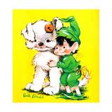 Lucky Bunny - Jack & Jill Giclee Print by George Lesnak