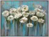 Anemones by the Lake Framed Canvas Print by Silvia Vassileva