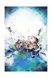 Splash Down - Jack & Jill Giclee Print by Edith Osborn Corbett