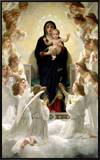 The Virgin with Angels, 1900 Framed Canvas Print by William Adolphe Bouguereau