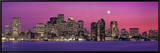 Urban Skyline by the Shore at Night, Boston, Massachusetts, USA Framed Canvas Print by  Panoramic Images