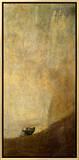 The Dog, 1820-23 Framed Canvas Print by Francisco de Goya
