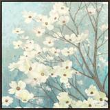 Dogwood Blossoms I Framed Canvas Print by James Wiens