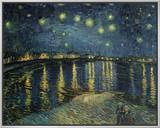 Starry Night over the Rhone, c.1888 Framed Canvas Print by Vincent van Gogh