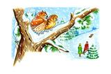 December Owls - Jack & Jill Giclee Print by Patricia Lynn