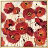 Bold Poppies Framed Canvas Print by Silvia Vassileva