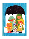 Raining Cats and Dogs - Jack & Jill Giclee Print by Jack Weaver