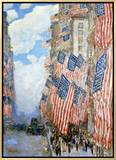 The Fourth of July, 1916 Framed Canvas Print by Childe Hassam