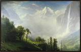 Majesty of the Mountains Framed Canvas Print by Albert Bierstadt