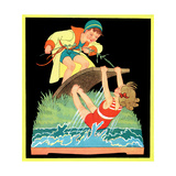 Summer Fun - Child Life Giclee Print by Hazel Frazee