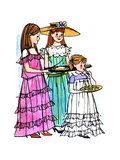 Lunch with Mr. Father - Jack & Jill Giclee Print by Joy Friedman
