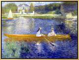 The Skiff (La Yole) Framed Canvas Print by Pierre-Auguste Renoir