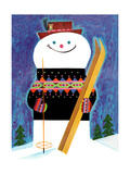 Skis for Snowman - Jack & Jill Giclee Print by Jack Weaver