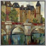 Paris Late Summer II Framed Canvas Print by Silvia Vassileva