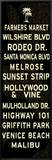 Los Angeles Sign Framed Canvas Print