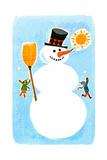The Snowman! - Jack & Jill Giclee Print by Ed Emberley