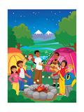 Campfire - Jack & Jill Giclee Print by Scott Burroughs