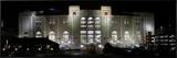 University of Nebraska - Memorial Stadium at Night Framed Canvas Print by Justin Scott