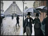 Paris Street; Rainy Day, 1877 Framed Canvas Print by Gustave Caillebotte