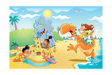 Sand City Surprises - Jack & Jill Giclee Print by Gary LaCoste