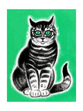 Green-Eyed Cat - Jack & Jill Giclee Print by Frank Dobias