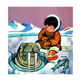Mr. Snowman - Jack & Jill Giclee Print by Cynthia Koehler