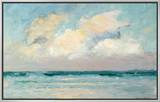 Sea Study - Morning (Oil on Panel) Framed Canvas Print by Adrian Scott Stokes