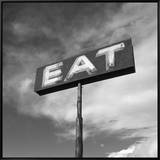 "Vintage ""Eat"" Restaurant Sign Framed Canvas Print by Aaron Horowitz"